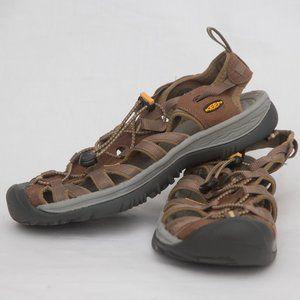 Keen Whisper fishermen leather sandals 9.5
